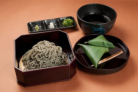 Nama-fu and Yomogi Soba with Sasafu Manju 1,600 yen