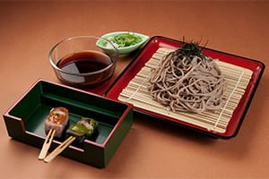 Zaru Soba and Denraku Set 1,200 yen