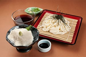 Zaru Udon and Yuba Sashimi Set 1,100 yen