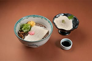 Yuba Soba and Yuba Sashimi Set 1,500 yen