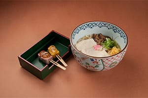 Yuba Udon and Denraku Set 1,600 yen