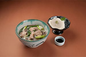 Torinanba Soba and Yuba Sashimi Set 1,300 yen