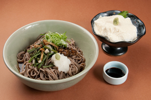Sansai Bukkake Soba and Yuba Sashimi Set 1,300 yen