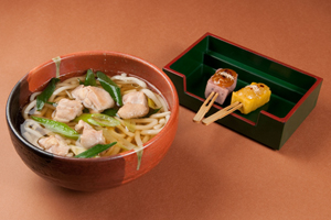 Torinanba Udon and Denraku Set 1,500 yen