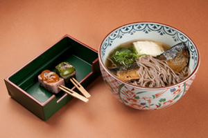 Nishin Soba and Denraku Set 1,600 yen
